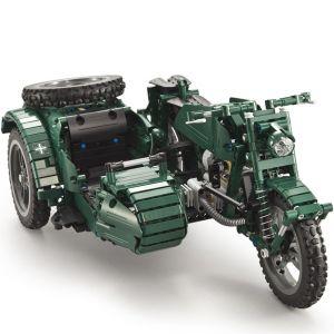 Радиоуправляемый Конструктор Мотоцикл с коляской (629 деталей, 36 см.)