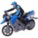 Синий Радиоуправляемый Мотоцикл Стантрайдинг встает на заднее колесо (1:43, 8 см)