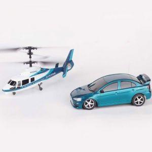 Набор Вертолет и машинка на радиоуправлении (34 см.)