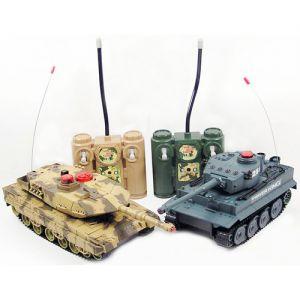 Радиоуправляемый Танковый бой 1:32  Leopard 2A5 vs. Tiger I (2 танка 22 см)