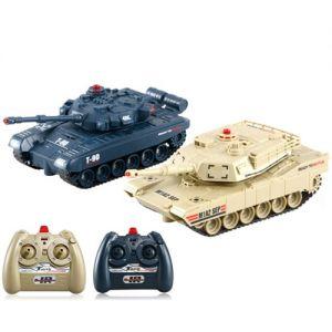 Танковый бой 1:48  Abrams M1A2 vs. Т-90 (2 танка 16 см)