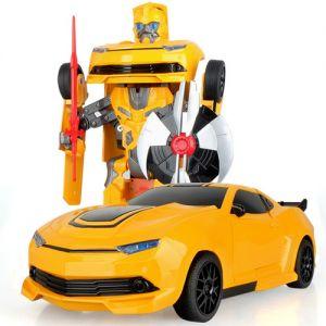 Машинка-трансформер 1:20 Chevrolet Camaro Bumblebee с мечом (22 см)