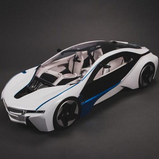 Большая Радиоуправляемая BMW i8 (открываются двери, 1:8, 56 см)