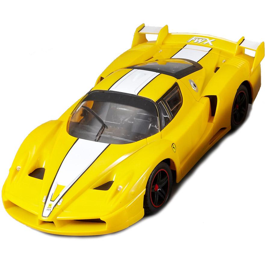 Желтый Большая Радиоуправляемая Ferrari FXX (1:10, 45 см)