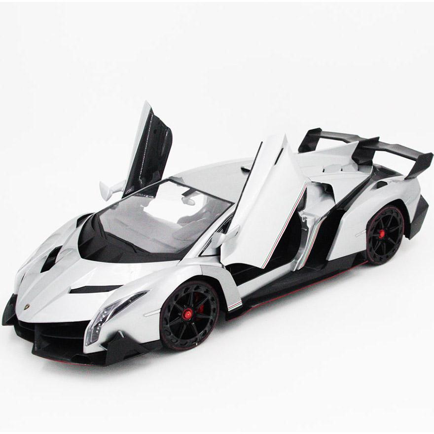 Серебристый Радиоуправляемая Lamborghini Veneno (открываются двери, 1:10, 51 см)