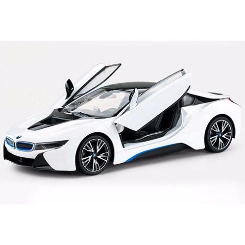 Белый Радиоуправляемая BMW i8 (открываются двери, 1:14, 35 см)