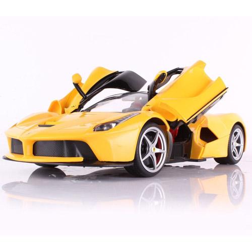 Желтый Радиоуправляемая Ferrari LaFerrari (открываются двери, 1:14, 33 см)