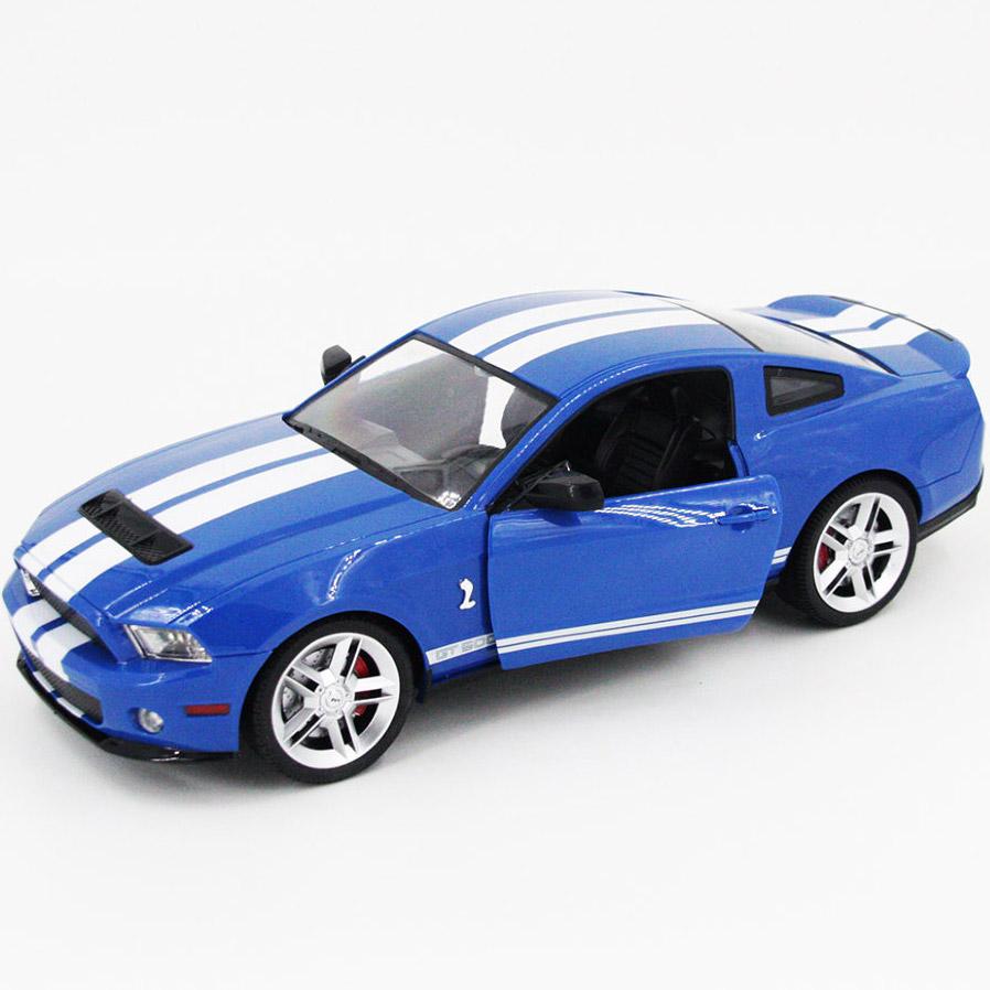 Синий Радиоуправляемый Ford Mustang GT500 (открываются двери и капот, 1:14, 34 см)