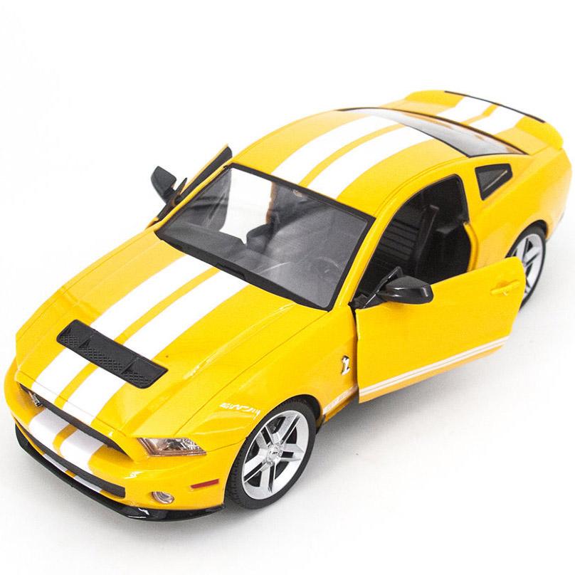 Желтый Радиоуправляемый Ford Mustang GT500 (открываются двери и капот, 1:14, 34 см)