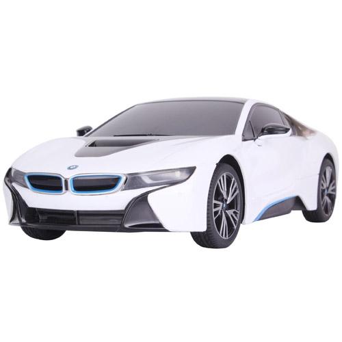 Белый Небольшая Радиоуправляемая BMW i8 (1:18, 25 см.)