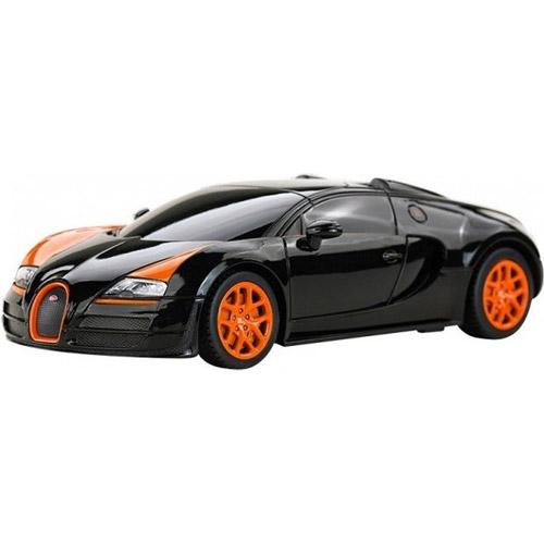 Черный Небольшая Радиоуправляемая Bugatti Veyron Grand Sport (1:18, 27 см.)
