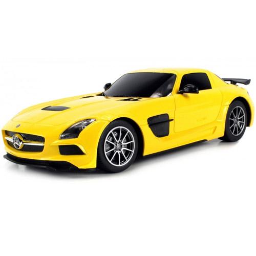 Желтый Небольшой Радиоуправляемый Mersedes-Benz SLS AMG (1:18, 25 см.)