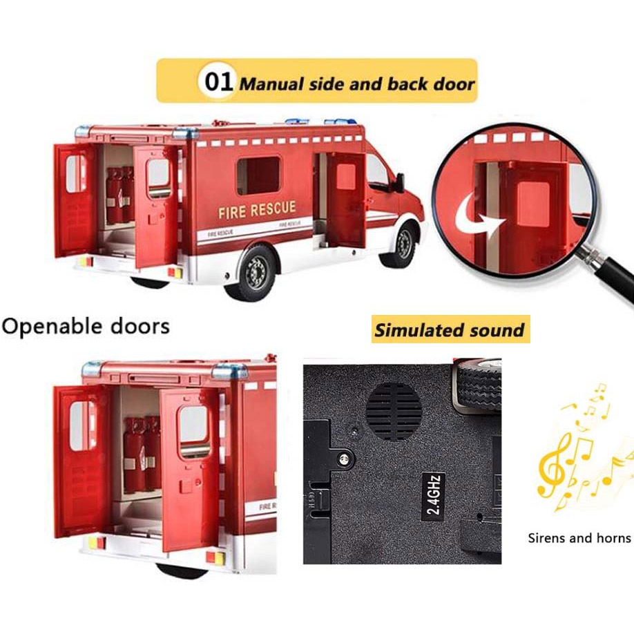 Радиоуправляемый Пожарный Фургон (1:18, 33 см) - В интернет-магазине