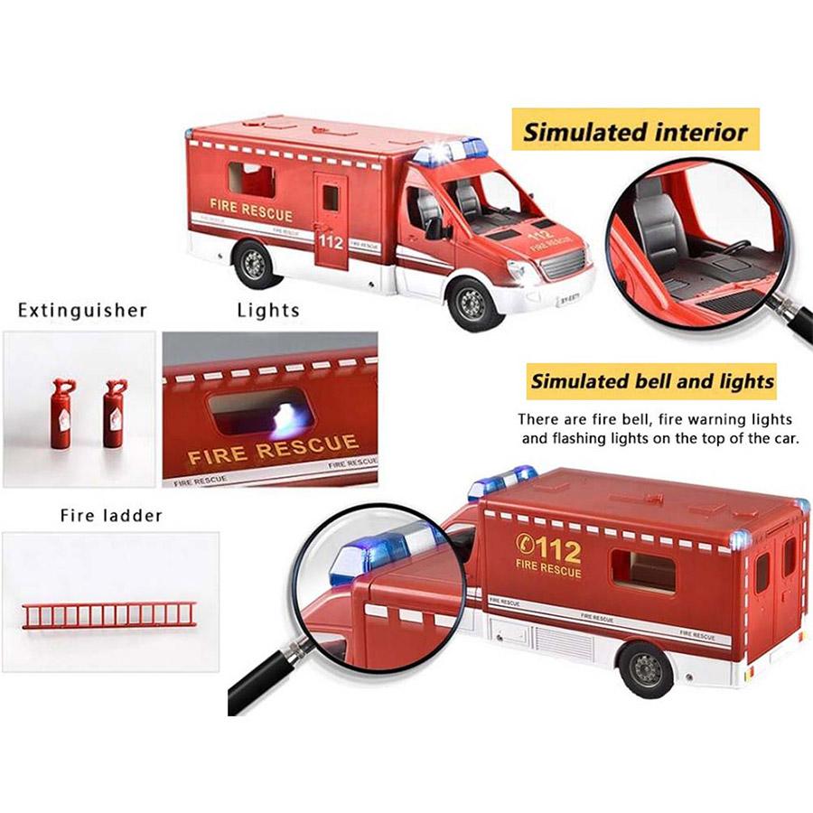 Радиоуправляемый Пожарный Фургон (1:18, 33 см) - Фото