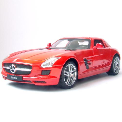 Красный Радиоуправляемая Машинка 1:24 Mercedes-Benz SLS (открываются двери, 20 см, металл)