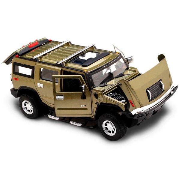 Радиоуправляемый Hummer H2 из металла (открываются двери, 1:24, 20 см)