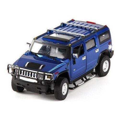 Синий Радиоуправляемый Hummer H2 из металла (открываются двери, 1:24, 20 см)