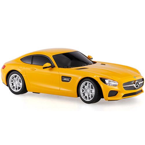 Желтый Маленькая Радиоуправляемая Машинка Mercedes AMG GT3 (1:24, 17 см)