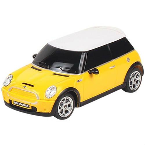 Желтая Маленькая радиоуправляемая машинка Mini Cooper S (1:24, 17 см.)