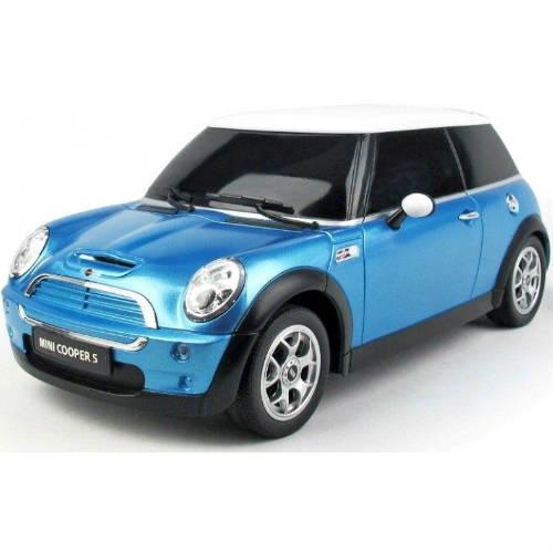 Синий Маленькая радиоуправляемая машинка Mini Cooper S (1:24, 17 см.)