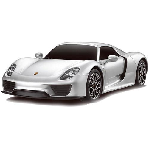 Серебристый Маленькая радиоуправляемая машинка Porsche 918 Spyder (1:24, 20 см)