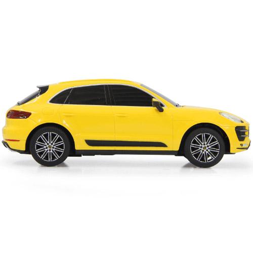 Желтый Маленькая радиоуправляемая машинка Porsche Macan Turbo (1:24, 19 см)
