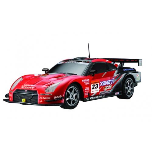 Красный Маленькая радиоуправляемая машинка Nissan GTR GT500 (1:28, 18 см)