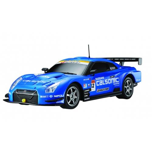Синий Маленькая радиоуправляемая машинка Nissan GTR GT500 (1:28, 18 см)