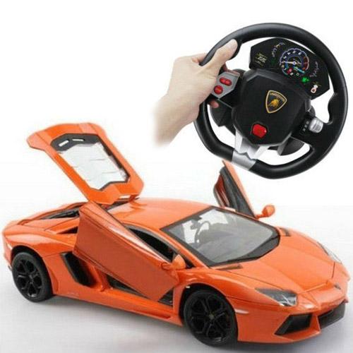 Машина 1:24 Lamborghini LP700 (с рулем управления, металл, 21 см)