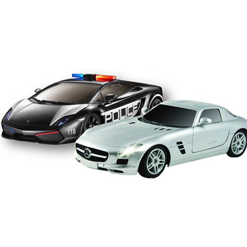 Набор 1:28 Lamborghini Police vs. Mercedes SLS