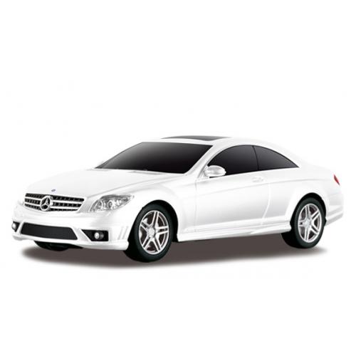 Белый Маленькая радиоуправляемая машинка Mercedes CL63 AMG (1:24, 20 см.)