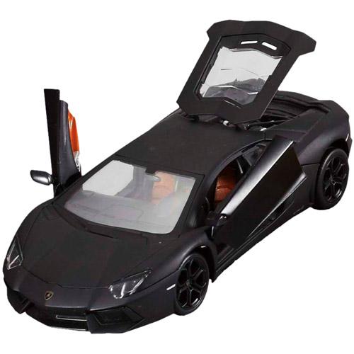 Черный Радиоуправляемый Lamborghini Aventador (открываются двери, металлическая, 1:24, 20 см)