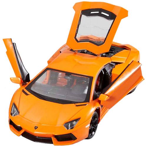Оранжевый Радиоуправляемый Lamborghini Aventador (открываются двери, металлическая, 1:24, 20 см)