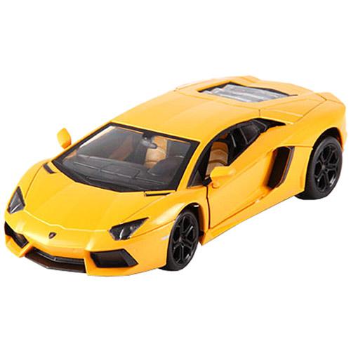 Желтый Радиоуправляемый Lamborghini Aventador (открываются двери, металлическая, 1:24, 20 см)