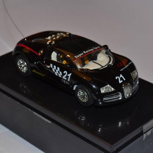 Черная Радиоуправляемая микро Bugatti Veyron (1:52, 9 см.)