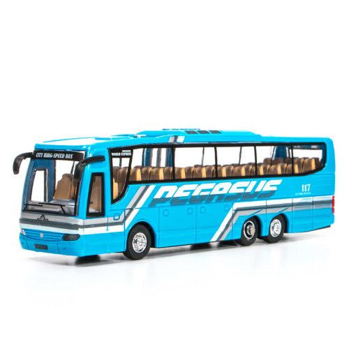 Голубой Радиоуправляемый Мини-Автобус City Bus (1:76, 14 см.)