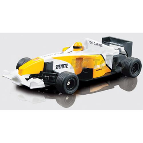 Желтый Радиоуправляемый Мини болид Формулы 1 (10 см.)