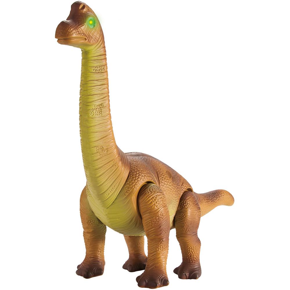 Коричневый Радиоуправляемый Динозавр Брахиозавр (44 см.)