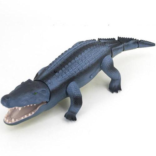 Синий Большой Радиоуправляемый крокодил (49 см)