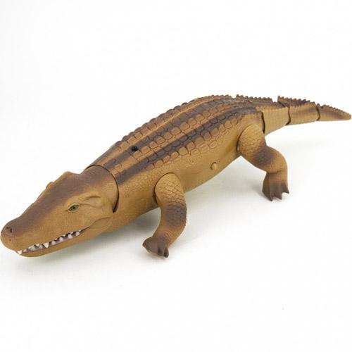 Коричневый Большой Радиоуправляемый крокодил (49 см)