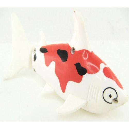 Красный с белым Радиоуправляемая рыба (12 см)