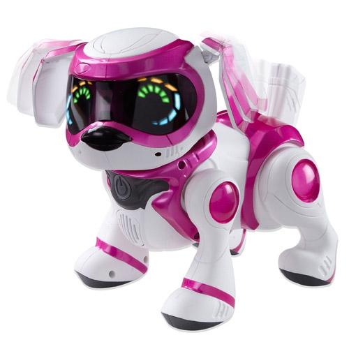 Розовый Интерактивная собачка Teksta Robotic Puppy (делает сальто, 26 см)