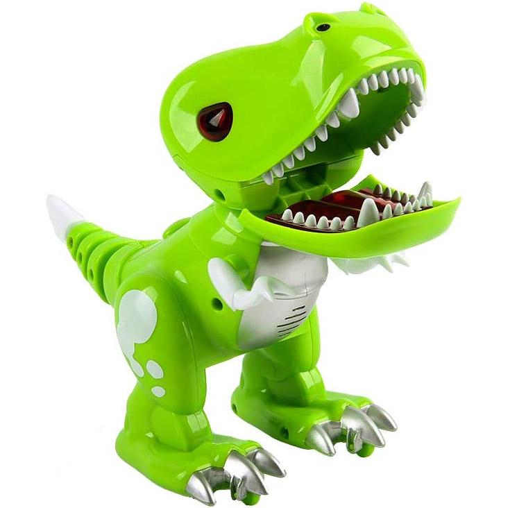 Зеленый Радиоуправляемый Динозаврик ТиРекс (19 см.)
