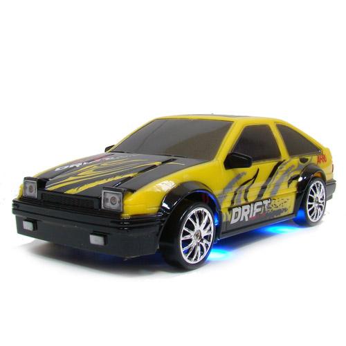 Желто-черный Радиоуправляемая Машина Дрифт Toyota Trueno (1:24, 18 см)