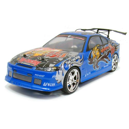 Синий Радиоуправляемая Машина Дрифт Nissan Silvia (1:14, 30 см)