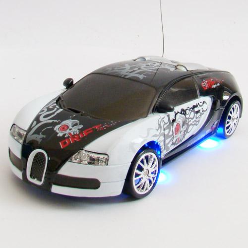 Белый с рисунками Радиоуправляемая Машинку для Дрифта Bugatti Veyron (1:24, 18 см)