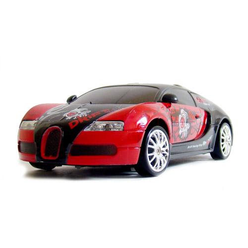 Красный с рисунками Радиоуправляемая Машинку для Дрифта Bugatti Veyron (1:24, 18 см)