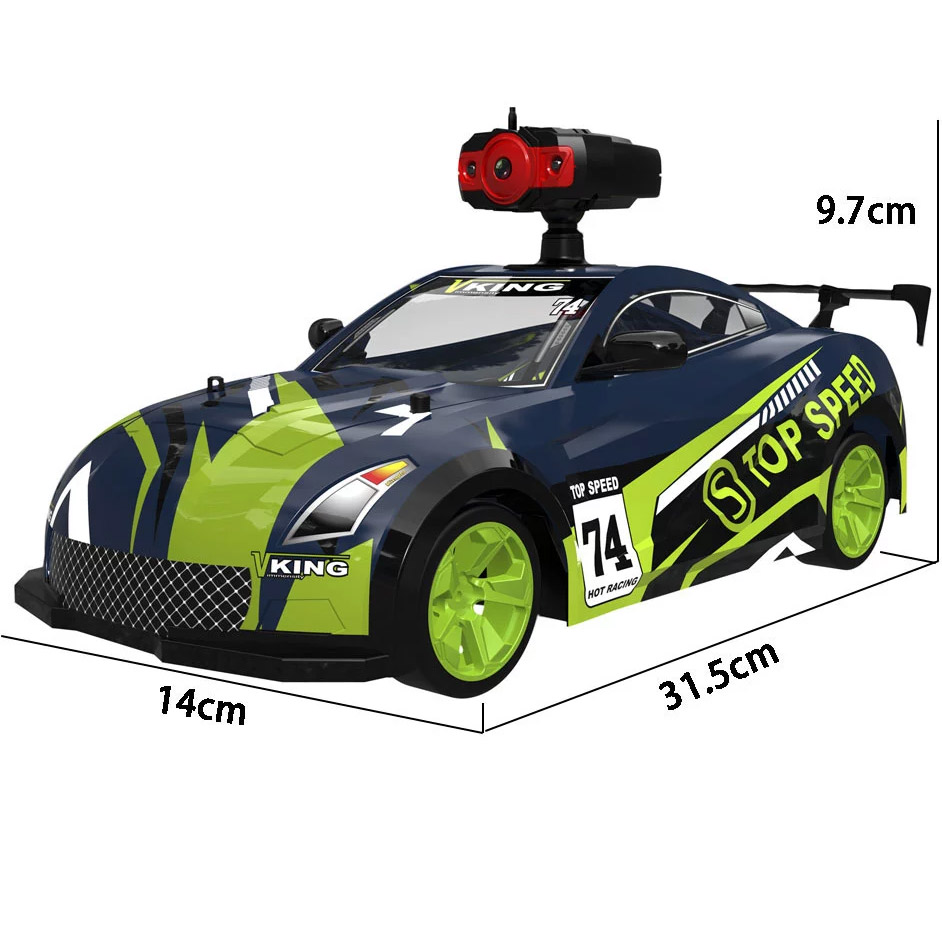 Радиоуправляемая Машина Дрифт Crazon с трансляцией видео (1:14, 15 км/ч, 32 см) - Фото