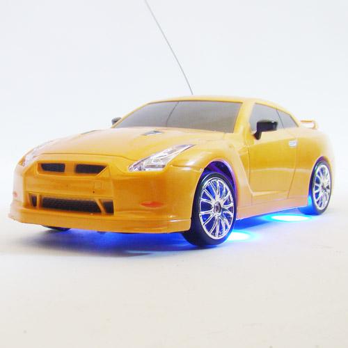 Оранжевый Радиоуправляемая машинка для Дрифта Nissan Skyline GTR R35 с неоновой подсветкой (1:24, 18 см)
