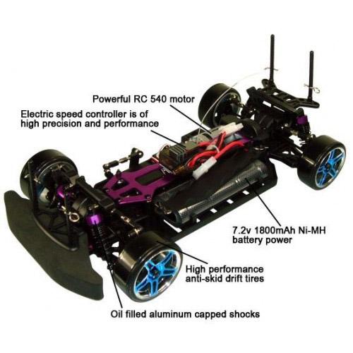 Профессиональная радиоуправляемая машина Дрифт 1:10 HSP Mazda (44 см, 50 км/ч, 2.4Ghz) - В интернет-магазине